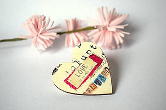 """Odznaky/Brošne - Brošňa """"Love"""" - 8892522_"""