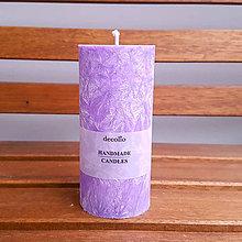 Svietidlá a sviečky - Fialová sviečka Ø55 - 8892295_