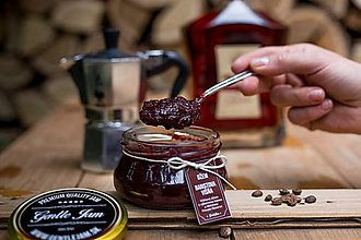 Potraviny - Baristova višňa- Višňový džem s výberovou kávou a Metaxou Private Reserve - 8891554_