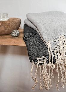 Úžitkový textil - fouta II.  (Čierna) - 8890606_