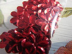 Galantéria - flitriky (Červená) - 8889502_