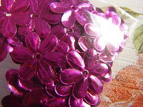 Galantéria - flitriky (Ružová) - 8889505_