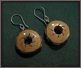Náušnice - 172. drevené náušky Černá Baza - 8892421_