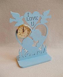 Hodiny - Drevené hodiny Čas na lásku - 8890561_