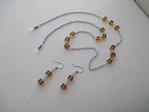 Sady šperkov - Retiazka na okuliare+náušnice-chir. oceľ - 8889289_