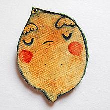Odznaky/Brošne - Citlivý citrón - 8890304_