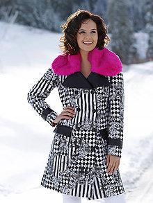 Kabáty - Originálny kabát s kožušinou - 8892224_