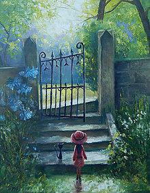 Obrazy - U tajemne zahrady - 8892425_