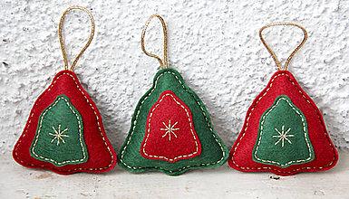 Dekorácie - Vianočné trio - zvonček - 8890307_