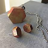 Sady šperkov - Betónový GOLDEN set HEXnuts 01 - 8891447_