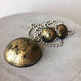 Sady šperkov - Betónový GOLDEN set Hemisphere 01 - 8891612_
