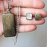 Sady šperkov - Betónový GOLDEN set Geometric 03 - 8891790_