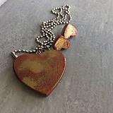 Sady šperkov - Betónový GOLDEN set HEART 03 - 8891817_