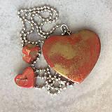 Sady šperkov - Betónový GOLDEN set HEART 03 - 8891821_