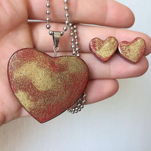 Betónový GOLDEN set HEART 03