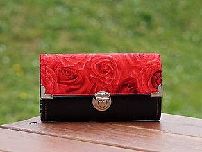 Peňaženky - Peněženka Červená růže 19x10cm, 12 karet, na fotky - 8890173_
