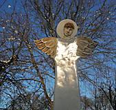 Dekorácie - Anjel na stenu  ( väčší ) - 8891536_