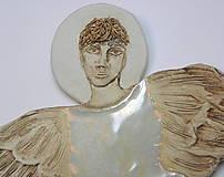 Dekorácie - Anjel na stenu  ( väčší ) - 8891541_