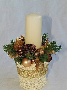 Svietidlá a sviečky - Svietnik 39 - čokoládové zlato - 8890860_