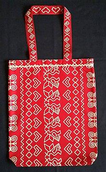 Nákupné tašky - Nákupná taška - čičmanský vzor -červená - 8890458_