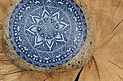 Kresby - Spomienková modrotlač - Na kameni maľované - 8891470_