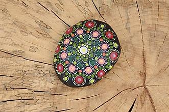 Kresby - Folk - farebná cifrovačka - Na kameni maľované - 8892584_