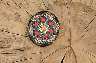 Kresby - Folk - farebná cifrovačka - Na kameni maľované - 8892594_