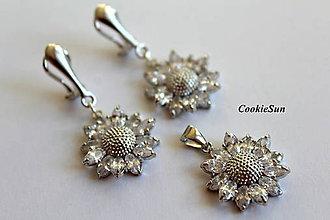 "Sady šperkov - Sada ""Zircon Sunflowers"" - 8892216_"