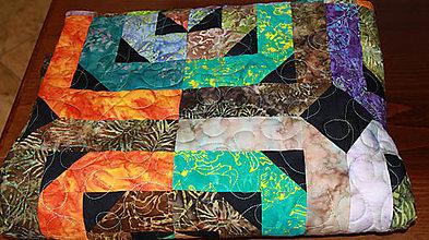 Úžitkový textil - Patchworková deka/prehoz - 8891926_