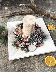 Dekorácie - Vianočný svietnik  - 8891220_
