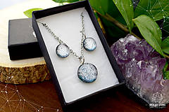 Sady šperkov - Exkluzívna strieborná sada sklenených šperkov - 8890503_