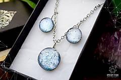 Sady šperkov - Exkluzívna strieborná sada sklenených šperkov - 8890504_