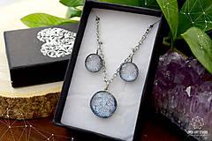Sady šperkov - Exkluzívna strieborná sada sklenených šperkov - 8890505_