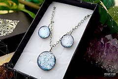 Sady šperkov - Exkluzívna strieborná sada sklenených šperkov - 8890506_
