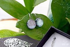 Sady šperkov - Exkluzívna strieborná sada sklenených šperkov - 8890509_