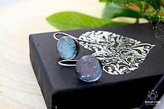 Sady šperkov - Exkluzívna strieborná sada sklenených šperkov - 8890510_