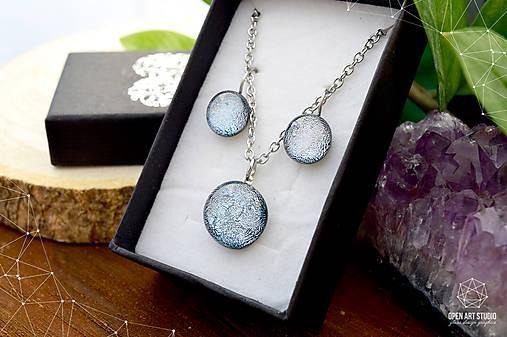 Exkluzívna strieborná sada sklenených šperkov