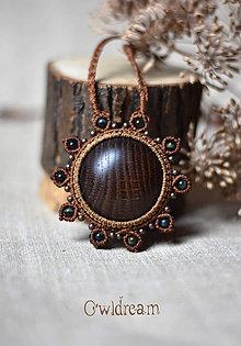 bb6733d07 Náhrdelníky - Makramé drevený náhrdelník •Dotyk slnka• - 8892034_