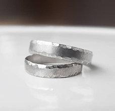 Prstene - Satin & Hammer strieborný variant - 8896145_