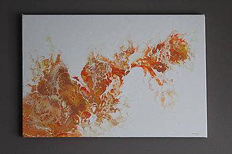 Obrazy - orange fluid - 8894374_
