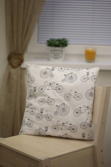 Úžitkový textil - Le BonBon vankúš (retro bicykle) - 8895505_