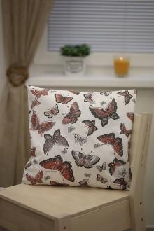 Úžitkový textil - Le BonBon vankúš (motýliky) - 8895643_