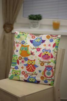 Úžitkový textil - Le BonBon pillow (happy owls) - 8895707_