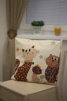 Úžitkový textil - Le BonBon vankúš (sladké mačičky) - 8895718_