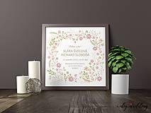 Papiernictvo - Tlačené svadobné oznámenie Letná láska - 8895418_