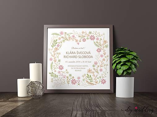 Tlačené svadobné oznámenie Letná láska