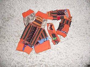 Čiapky - ethno čelenka,rukavičky bezprstové a štucne 4 - 8893006_