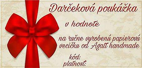 Darčekové poukážky - Darčeková poukážka - 8897130_