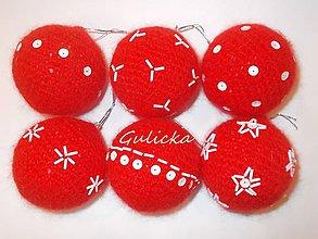 Dekorácie - Háčkované vianočné gule - sada - 8895561_