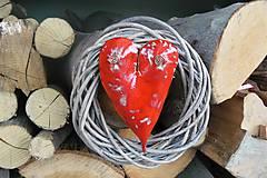 Dekorácie - Srdce vo venci č.10 - 8893975_